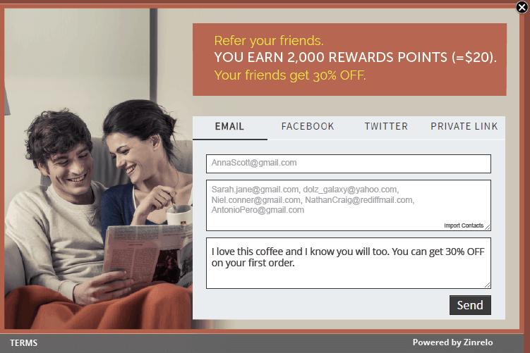 Integrated Referral Program - Customer Acquisition -Zinrelo