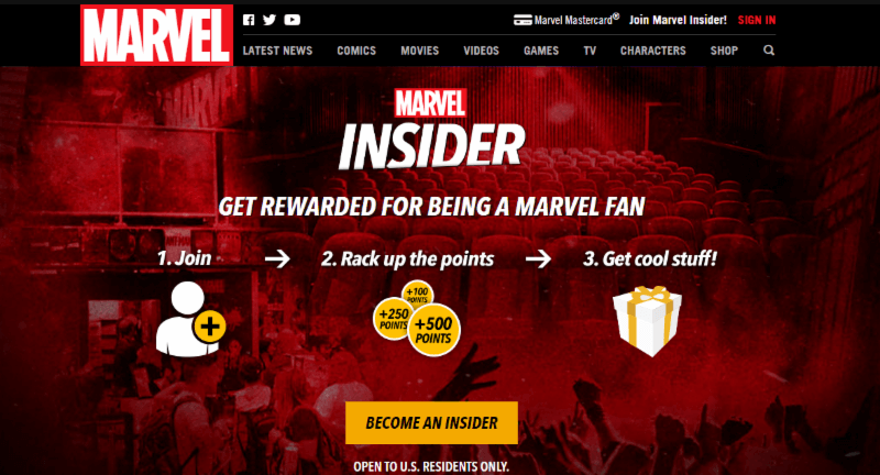 Marvel Finds Enhanced Customer Engagement From Insider Loyalty Program – May 4, 2017