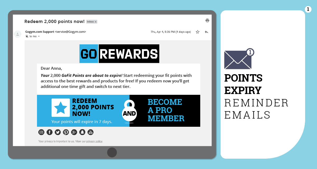 rewards expiry email