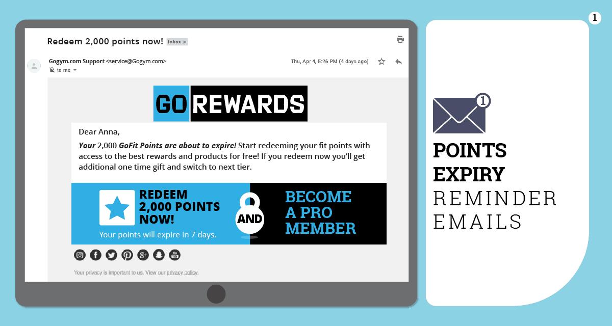 rewards expiry email