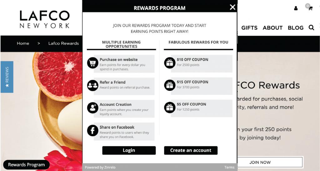 LAFCO uses Zinrelo's loyalty rewards platform
