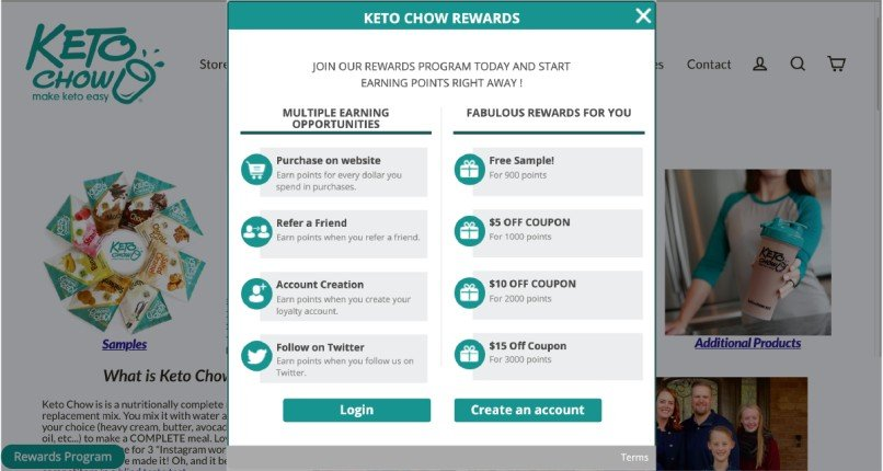 Keto Chow to increase Average Order Value