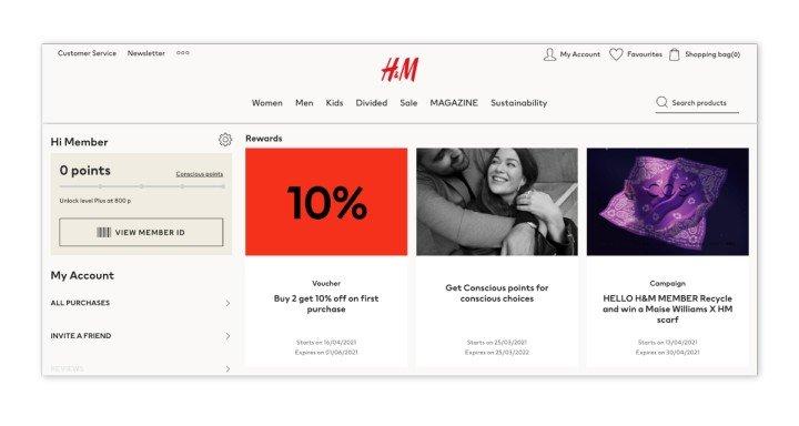 H&M loyalty program