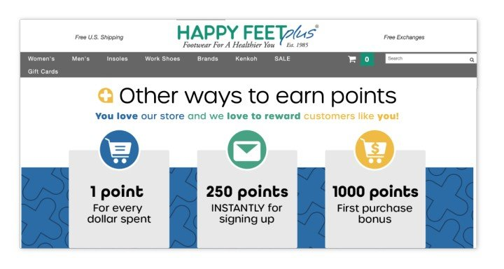 Happy Feet plus loyalty program