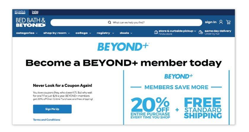 Beyond+ - Bed Bath & Beyond