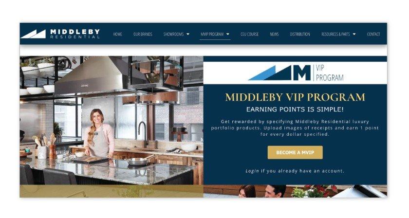 Middleby Residential – Middleby VIP Program