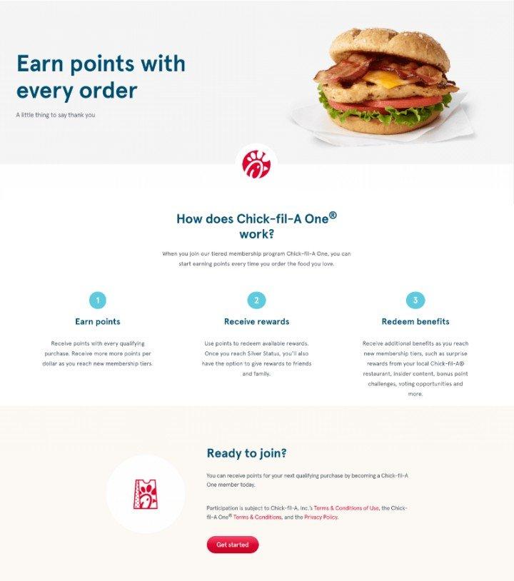 Chick-fil-A One loyalty program