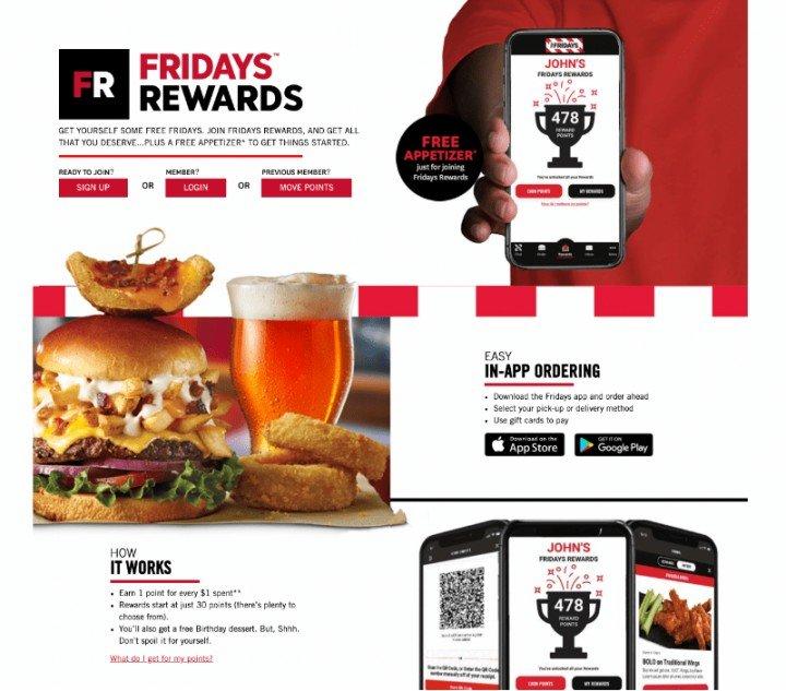Fridays Rewards program