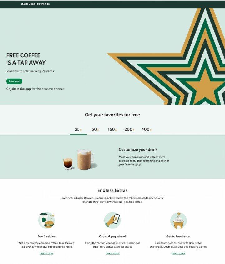 My Starbucks Rewards program