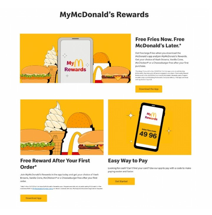 MyMcDonaldG Rewards program