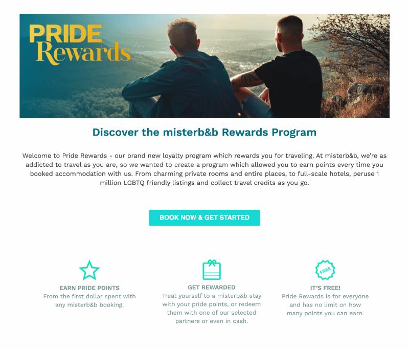 Misterb&b Pride Rewards Program